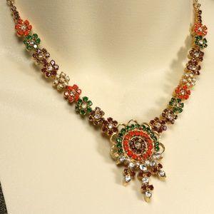 Indian Necklace Wedding Jewelry Imitation Gemstone
